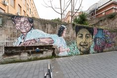 StreetArtRoma: Melting faces § stories § district | Diavù, Lucamaleonte, Nic Alessandrini | 2015 | Zona: Torpignattara | #art #streetart #roma