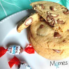 Les délicieux Cookies d'Avril de Momes (aux oeufs Kinder Schoko-Bons ®) !