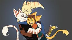Lombax Hug by Shiraae.deviantart.com on @DeviantArt