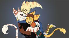 Lombax Hug by Shiraae.deviantart.com on @DeviantArt