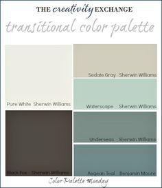 Transitional Paint Color Palette {Color Palette Monday #3} The Creativity Exchange