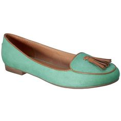Women's Merona Mali Tassel Flat Assorted Colors ($12) ❤ liked on Polyvore featuring shoes, flats, mint, target, loafers, mint green shoes, tassle loafers, mint green flats, mint green flat shoes and loafer shoes