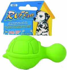 $5.04-$5.99 JW Pet Company Ruffians Turtle Dog Toy, Small (Colors Vary) - The Ruffians Turtle is a part of our squeaky rough N tough Ruffians line. This natural rubber toy has a long- necked design that makes it easy for paws to hold, chew and squeak! The turtle is a bouncy interactive fetch toy that is sized for puppies and small breed dogs. http://www.amazon.com/dp/B000HHQ550/?tag=pin2pet-20