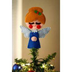 Angelito azul para árbol de navidad - Decoración y detalle