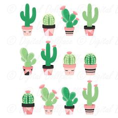 Idea Of Making Plant Pots At Home // Flower Pots From Cement Marbles // Home Decoration Ideas – Top Soop Cactus House Plants, Tiny Cactus, Cactus Flower, Indoor Cactus, Water Color Cactus, Deco Cactus, Cactus Art, Cactus Decor, Cactus Drawing