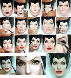 Repaint Process - Angelina Jolie Maleficent doll  An amazing work really #dolls #sculpture #maleficent
