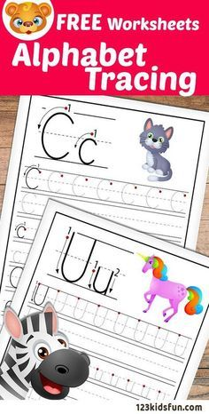 Alphabet Tracing Worksheets A-Z free Printable for Kids. | 123 Kids Fun Apps