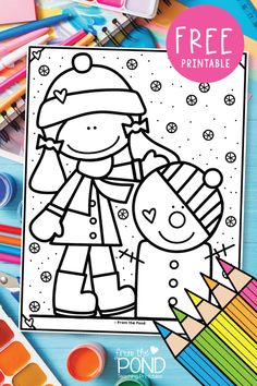 We offer free premium coloring pages through our Coloring Club program, which is free to join! Snowman Coloring Pages, Free Coloring Pages, Winter Fun, Winter Theme, Winter Ideas, Teacher Freebies, Winter Art Projects, Kindergarten Activities, Winter Activities