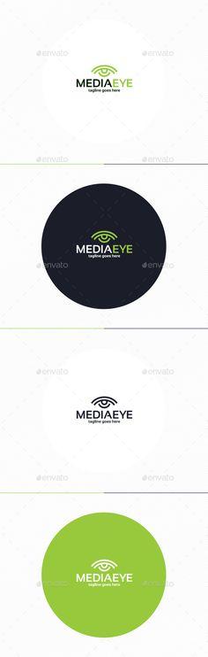 Media Eye  Logo Design Template Vector #logotype Download it here: http://graphicriver.net/item/media-eye-logo/10240139?s_rank=1578?ref=nexion