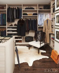 Beautiful & Chic Closet in A Manhattan apartment by Matthew Patrick Smyth featured in Elle Decor