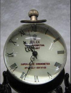 old brass glass pocket watch ball clock