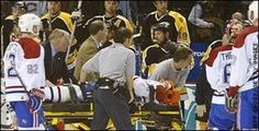 Hockey Hits Through Glass | ... hit on the Habs Richard Zednik who hit the ice like one of the classic