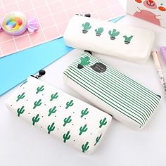Buy Travel Makeup Cosmetic Cactus Case Wash Organizer Storage Cartoon Pencil Case Valentine's Day Gift at Wish - Shopping Made Fun