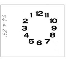 Image result for backward clock face