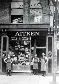 Aitken's shoe repair shop, 6 Abbotsford Road, Cotham, Bristol Candid Photography, Street Photography, Vintage Photographs, Vintage Photos, Gloucester Road, Bristol City, Old Country Stores, Sign Writing, Old Street