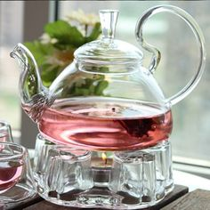Alice In Wonderland Glass Tea Set