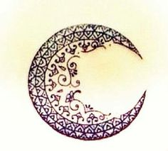 Gorgeous henna moon design