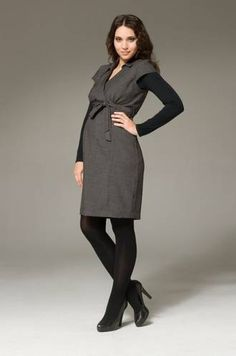 Ripe Maternity Twill Career Dress is perfect for Pregnancy Office Wear! #pregolipregnancy