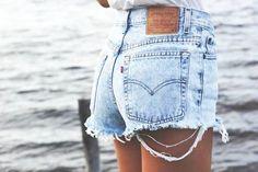 Acid Wash High Waist Denim Shorts by KneeDeepDenim on Etsy, $35.00
