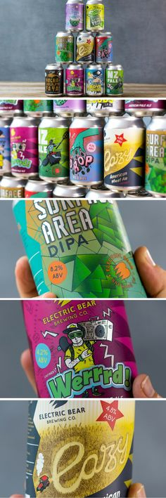 Electric Bear Brewing Company packaging by Kingdom & Sparrow