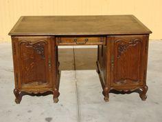 French Antique Partners Desk / Antique Executive Desk