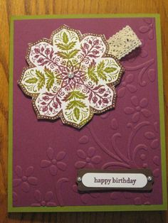 Handmade Birthday Card Medallion Flowers Mom Grandmother Sister Daughter Friend Stampin Up