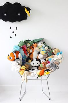 Awesome,now I know what to do with all my teenagers stuffed animals! DIY Kids Room Furniture projects