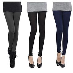 Falari 3 Pack Leggings Fleece Lined Cotton Thick Stretch Leggings Great for Winter 0  #leggings #tights #pants #fashion #clothing #womenfashion