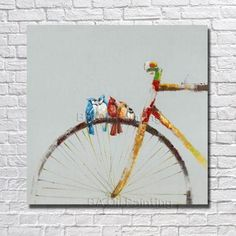 Wall Canvas Hand painted Abstract Bicycle Oil Painting Modern Living Room Wall Decor Pictures no Framed Art Bike's For You ? Wall Canvas Hand painted Abstract Bicycle Oil Painting Modern Living Room Wall Decor Pictures no Framed Art Bike's For You ? Birds Painting, Framed Art, Art Painting, Bicycle Art, Modern Oil Painting, Abstract Painting, Oil Painting, Abstract, Bicycle Painting