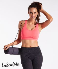 Need to brighten up your workout? Our Coral Sport Bra is what you're looking for!