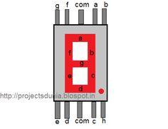 pin of seven segment display