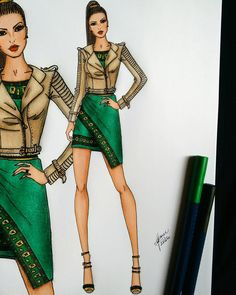 392 Likes, 60 Kommentare - ⭐SX Fashion Illustrations® ( . Fashion Design Portfolio, Fashion Design Drawings, Fashion Sketches, Fashion Sketchbook, Moda Fashion, Fashion Art, Fashion Illustration Dresses, Fashion Illustrations, Modelos Fashion