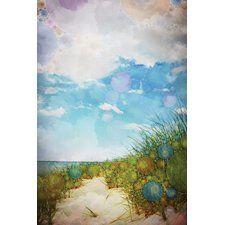 Beach by Olivia Joy Graphic Art on Wrapped Canvas