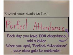Guest blog post from Elizabeth at Seconds At the Beach who talks about Attendance Motivation today!