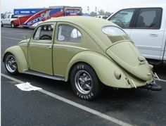 Green oval cal-look VW classic