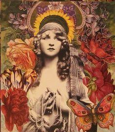 """Amazing Collages by Kanchan Mahon  """"Moi je t'offrirai Des perles de pluie Venues de pays Ou il ne pleut pas. Je creuserai la terre Jusqu'apres ma mort Pour couvrir ton corps D'or et de lumiere. Je ferai un domaine Où l'amour sera roi, Où l'amour sera loi, Où tu seras reine.""""  -Jacques Brel"""