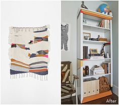 Before and After: A Colorful, Art-Inspired Bookshelf Makeover » Curbly | DIY Design Community
