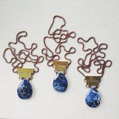 Sodalite Pendant Necklace by MLKANHNY on Etsy