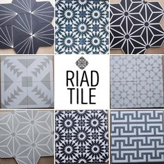 "RiadTile - Cement Tile on Instagram: ""New patterns in stock!!! Check out our website for samples or to place an order, www.riadtile.com. At just $9sqft, our prices are 40% less…"""