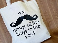 My Mustache Brings All the Boys to the Yard...   Hmmm, does it?