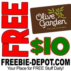 ►► FREE $10 Olive Garden Gift Card!!!! Exp 1/25/17 ►► #Free, #FreeAfterRebate, #FREEStuff, #FREEbate, #Freebie, #OliveGarden ►►