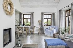 A cottage Scandinavian style Scandinavian Style, Scandinavian Interior, French Interior, Modern Interior Design, Houses In Poland, Side Table Lamps, Rustic Lamps, Next At Home, Interior Inspiration