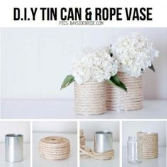 13 Easy To Make Tin Can Vases
