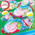 Peppa pig party merchandise - colour theme blue and red