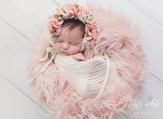 Flower Bonnet Floral Bonnet Garden Bonnet Baby by FashionTouch