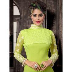 Eid Special Designer Green Georgette Party Wear Palazoo Style Salwaar Suit-ASE644HYT ( ARTI-522 )Karishma