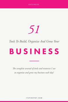 It is super important to have efficient workflows in place to run a business smoothly. here are 51 tools and resources that help me stay organized, grow in my business.