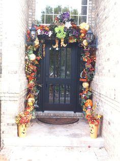 halloween door - Deco Mesh Halloween Garland