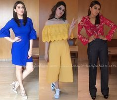 Hansika Motwani at Bogan Movie Promotions, Hansika Motwani Outfits, Hansika Motwani Western Outfits. Robes Western, Western Dresses, Western Outfits, Mode Bollywood, Bollywood Fashion, Indian Celebrities, Bollywood Celebrities, Celebrity Dresses, Celebrity Style