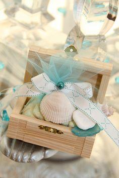 Treasure Chest Beach Theme Wedding Favor by LynnsPartyFavors, $4.99